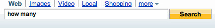 Yahoo Search Box 330px