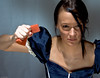 I'M TIRED OF CLEANING! (Luc Deveault) Tags: canada interestingness women quebec femme dirty cleaning bleu explore québec setup luc sponge éponge deveault ménagere lucdeveault