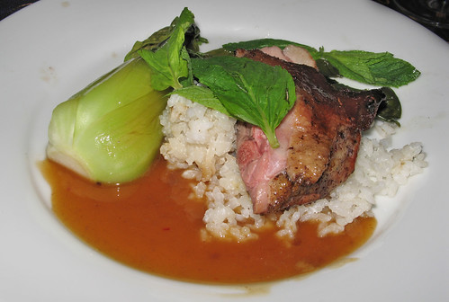 Green Tea-Smoked  Duck Breast with Asian Plum Sauce
