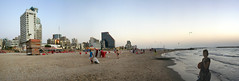 Tel Aviv Beach Panorama (borisrautenberg) Tags: summer sun beach hotel evening israel surf wake board tel aviv middleeast jaffa jew jewish mediterraneansea mittelmeer eretz thebestcityshots