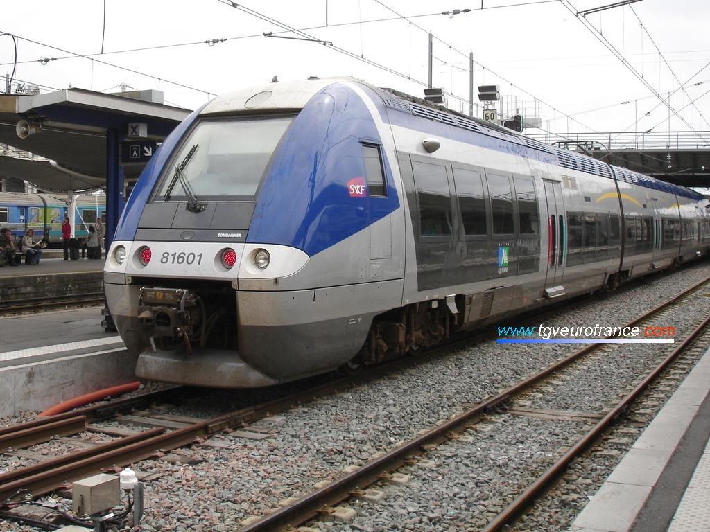 Une rame bi-mode de Bombardier Transport en gare de Bordeaux Saint-Jean