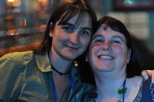 Peggy Duvette (@wiserearth) & Beth Kanter (@kanter)