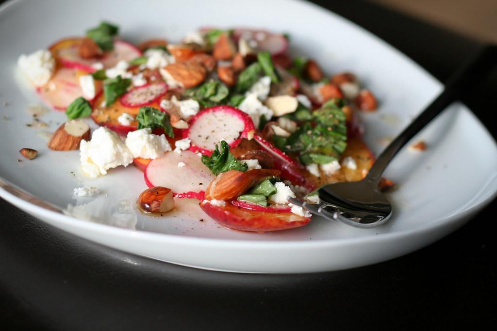 Peach & Radish Salad