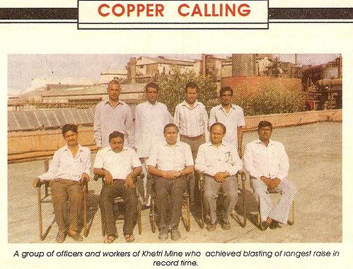 Group of Officers and workers of Khetri Copper Mine, Khetri Copper Complex, Khetrinagar, Jhunjhunu dist. India.