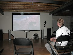 Playing Halo on the big screen