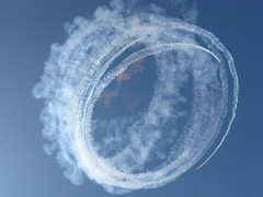 Around and Around We Go (peasap) Tags: show blue sky canon smoke air picture trails powershot explore rings miramar soe parachute g9 miramarairshow shieldofexcellence anawesomeshot superbmasterpiece