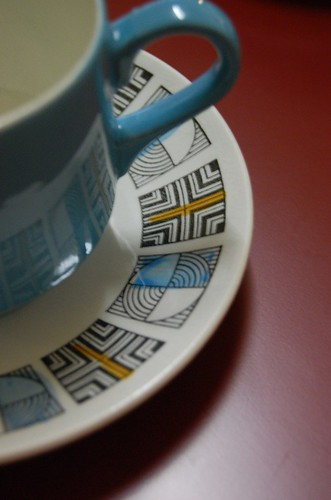 Thrifted Teacups - detail