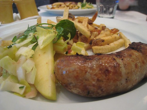 House-Made Boudin Blanc with OMG fries