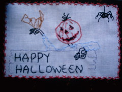 Jack Pumpkinhead Greetings (shebrews) Tags: embroidery halloweenstitchery jackpumpkin