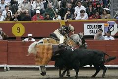 """Luis Castro """"Jockey"""" pica toro de Eduardo Gallo"""