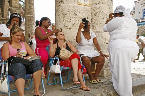 Public Barber's Shop Havana Cuba by peebeefoto.