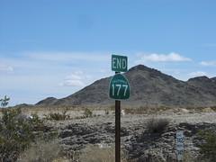 End CA-177 North at CA-62 (sagebrushgis) Tags: california sign shield riversidecounty ca62 ca177 californiastatehighway