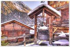 Grimentz (christianmeichtry) Tags: winter mountain snow alps cabin europe resort alp cauldron wallis valais grimentz sli anniviers chaudron raccard mywinners abigfave racard