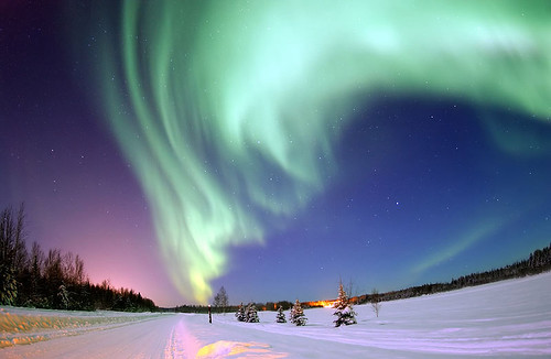Northern lights by Senior Airman Joshua Strang via Flickr