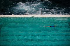 Swim (Lil [Kristen Elsby]) Tags: bondi sydney pool swimmingpool bondibaths water turquoise aqua blue swim swimming swimmer exercise laps lane swimminglane fence ocean sea icebergs bondipublicbaths bondiicebergs oceanpool getty gettyimages australia australasia oceania topv11111 topf200