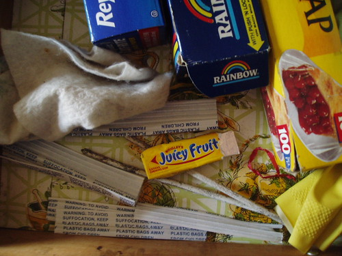 Juicy fruit in junk drawer