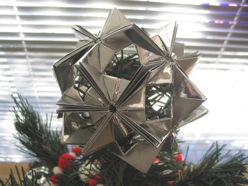 Origami Star Tree Topper
