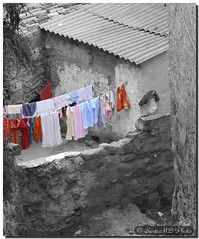 Colour clothes / Ropa de color (. SantiMB .) Tags: street espaa cutout town calle spain bravo artistic expression pueblo medieval desaturation jewish catalunya walls bec passage middleages muralla judo middleage lleida segarra pasaje tor desaturacin supershot platinumphoto anawesomeshot holidaysvacanzeurlaub superbmasterpiece goldenphotographer theunforgettablepictures