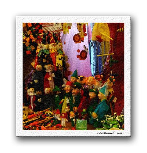 Colorful pupets