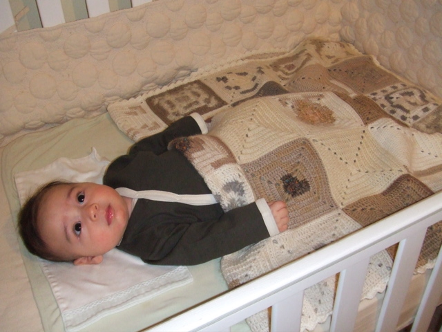 Owen in Crib