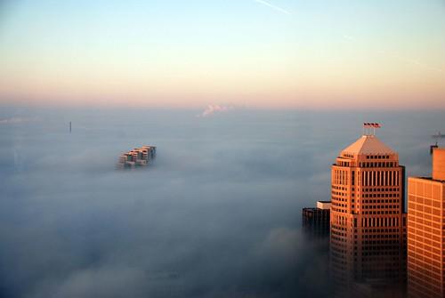 Foggy Detroit IV