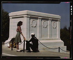 Sailor and girl at the Tomb of the Unknown Sol...