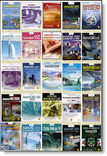 Collection of book covers from FCA an Autodesk Authorized Publisher in Portugal