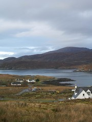 The cottage and West Loch Tarbert