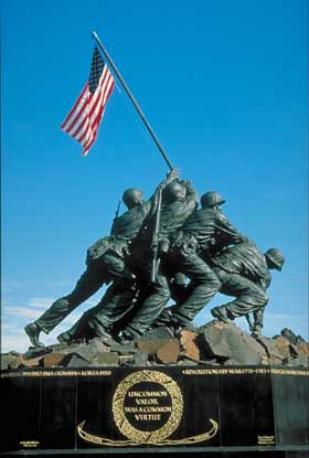 iwo jima memorial by gerald.hand.