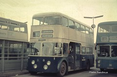WMPTE 1L at Cannock in 1972. (Lady Wulfrun) Tags: bus buses station 1 transport corporation cannock northern 36 1l daimler walsall fleetline counties lichfield shortest 1udh edh936e