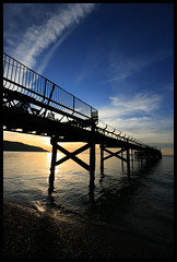 Totland Pier Zig Zag (s0ulsurfing) Tags: ocean blue light sunset shadow sea sun sunlight holiday seascape tourism beach water lines silhouette wow island evening bay coast pier vanishingpoint twilight holidays contrail sundown bright dusk sightseeing wide shoreline silhouettes wideangle tourist canvas coastal shore vectis isleofwight coastline z 2008 contrails isle zigzag sights wight attraction 10mm totland sigma1020 canvasart totlandbay s0ulsurfing visitorattraction abigfave canvasprints aplusphoto totlandpier diamondclassphotographer flickrdiamond theperfectphotographer isleofwightattractions isleofwightattraction gicleecanvasprints