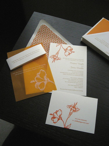 wedding invitation design, Damask wedding invitation idea, samples, wedding invitation, flowers, photos