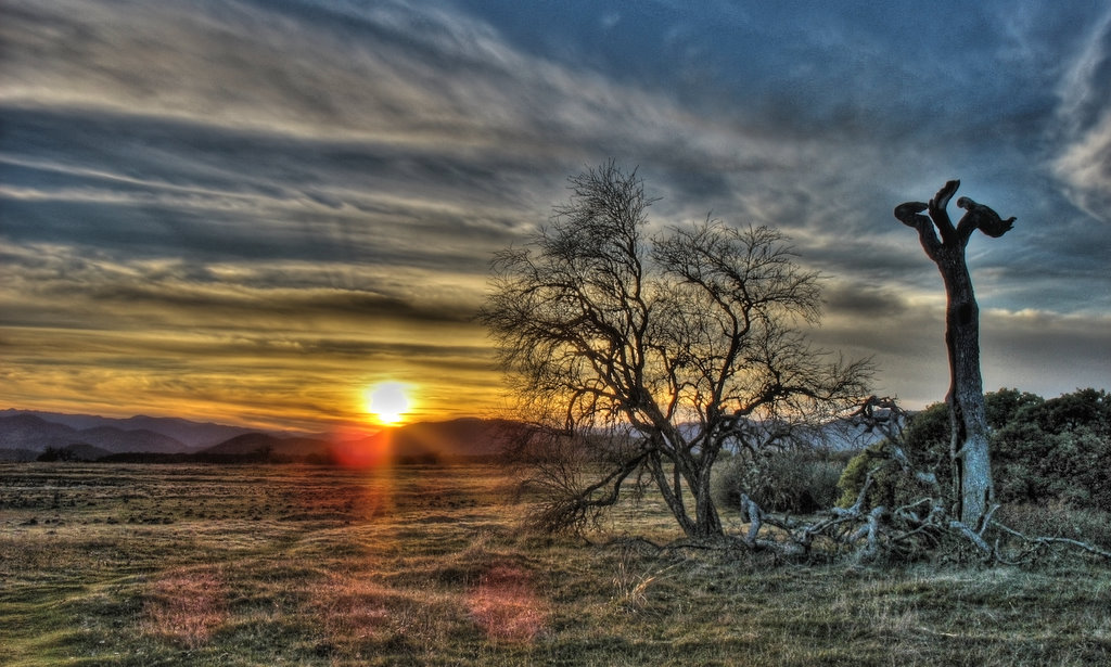 HDR sun over southern Oregon