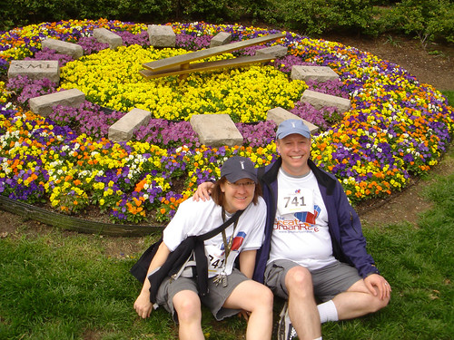 Us at the Floral Clock