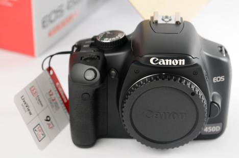 Canon XSi/ 450D -- front view