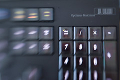 Optimis Maximus keyboard shot with Lensbaby 3G