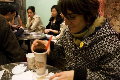 Olivia + bubble tea
