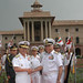 Admiral Jung Ok-Keun being greeted