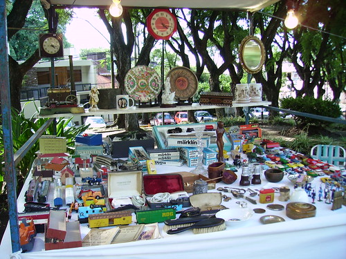 Detalhe da feira de antigüidades em San Telmo