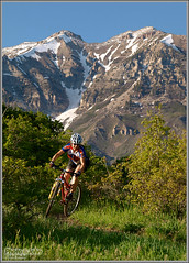 Mountain Biking Near Provo, Utah (Photo-John) Tags: woman sports girl bicycle female dorothy cycling utah spring action outdoor mountainbike olympus trail mtb timpanogos provo timp singletrack utahcounty mttimpanogos wasatchmountains photojohn e520