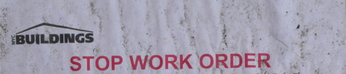 Stop Work Order Banner