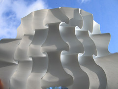 cuved undulations variation (polyscene) Tags: sculpture art plane paper 3d origami pattern craft surface relief polly folded fold curve curved poly bas score crease robo basrelief curvature verity polypropylene onesheet nocuts developable polyscene pollyverity developablesurface curvedfold 3dpattern foldedcurves