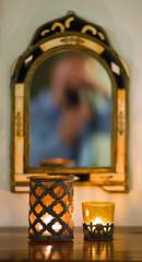 """The Mirror Ever Lies."" (TablinumCarlson) Tags: spiegel mirror spiegelbild selfi portrait selbstportrait leica leicam m240 90mm summicron dof kerze candle teelicht highiso availablelight home"