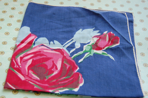 Prezzies from Sarah! blue rose foral scarf