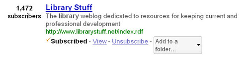 10142007LibraryStuffSubscribersOnGooglereader