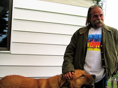 Big dog, real hippy. NY. (J-diggity-dogg) Tags: dog canine hellhound bigdog hugedog gentlegiant largedog extralargedog houndofbaskerville enormousdog gargantuandog jumbosizeddog ihavenopityorrespectfortimothytreadwell