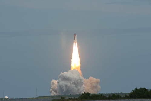 Space Shuttle Discovery rockets into Space
