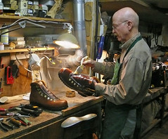 Charlie Van Gorkom custom bootmaker (xtremepeaks) Tags: winter portrait people snow canada man leather shop work boot bc boots saveme2 hiking deleteme10 working charlie yukon handcrafted custom bootmaker telkwa interestingness300 i500 aplusphoto vangorkom explore19nov07 yukonboots