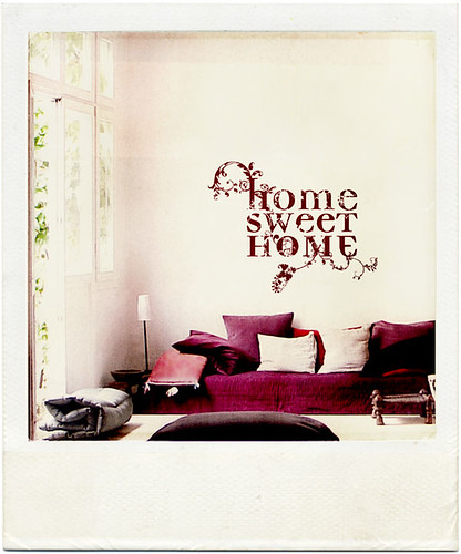 wallpaper sticker. home sweet home wall sticker