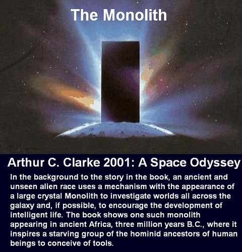 Monolith, Arthur,C ,Clarke ,2001,Space, Odyssey,